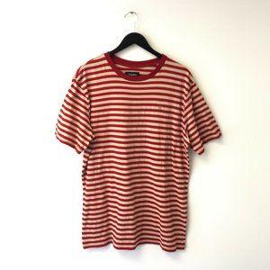 Brixton Striped Shirt Skate Sport Tee Premium XXL